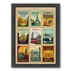 Americanflat World Travel Multi 1 Framed Vintage Advertisement