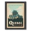 Americanflat World Travel Quebec Framed Vintage Advertisement