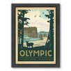 Americanflat National Park Olympic Framed Vintage Advertisement