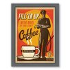 Americanflat Filler Up Framed Vintage Advertisement