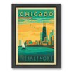 Americanflat Chicago Lakefront Framed Vintage Advertisement