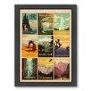 Americanflat National Park Multi 1 Framed Vintage Advertisement
