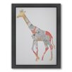 Americanflat Giraffe Woodland Framed Graphic Art