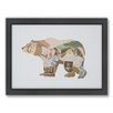 Americanflat Bear Woodland Framed Graphic Art