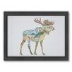 Americanflat Elk Woodland Framed Graphic Art