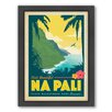 Americanflat Hawaii NaPali Framed Vintage Advertisement