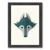 Americanflat Wolf Art Framed Graphic Art