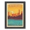 Americanflat Charlotte Framed Vintage Advertisement