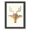Americanflat Deer Art Framed Graphic Art