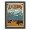 Americanflat Jackson Wyoming Framed Vintage Advertisement
