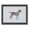 Americanflat Dog Woodland Framed Graphic Art
