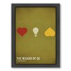 Americanflat Wizard of Oz Framed Graphic Art