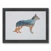 Americanflat German Shepherd Woodland Framed Graphic Art