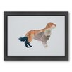 Americanflat Golden Retriever Woodland Framed Graphic Art