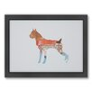 Americanflat Boxer Woodland Framed Graphic Art