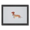 Americanflat Dachshund Woodland Framed Graphic Art