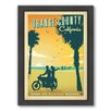 Americanflat Orange County Framed Vintage Advertisement