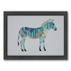 Americanflat Zebra Woodland Framed Graphic Art