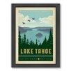 Americanflat Lake Tahoe Framed Vintage Advertisement
