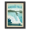 Americanflat National Park Niagra Framed Vintage Advertisement