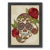 Americanflat Sugar Skull Framed Graphic Art