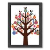 Americanflat Tree of Flowers Framed Graphic Art