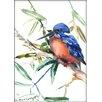 Americanflat Azure Kingfisher 2 by Suren Nersisyan Painting Print