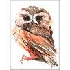 Americanflat Owl 3 by Suren Nersisyan Painting Print