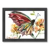 Americanflat Butterfly by Suren Nersisyan Framed Painting Print