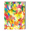 Americanflat Spring Pattern Paintbrush Gallery Wrapped Canvas