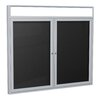 <strong>2-Door Illuminated Headliner Enclosed Flannel Letterboard</strong> by Ghent