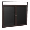<strong>Ghent</strong> 2-Door Illuminated Headliner Enclosed Flannel Letterboard