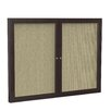Ghent 2-Door Enclosed Fabric Bulletin Board
