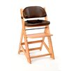 Keekaroo™ Height Right Kids Chair in Natural and Comfort Cushion in Chocolate