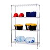 "<strong>Excel Hardware</strong> All Purpose Wide Rack 72"" H 4 Shelf Shelving Unit"