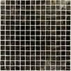 "<strong>MS International</strong> 3/4"" x 3/4"" Iridescent Glass Mosaic in Black Iridescent"