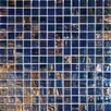 "<strong>MS International</strong> 3/4"" x 3/4"" Iridescent Glass Mosaic in Blue Iridescent"