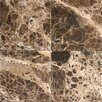 MS International Tumbled Marble Tile in Emperador Dark