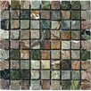 """MS International 1"""" x 1"""" Tumbled Marble Mosaic in Rain Forest"""
