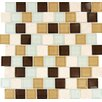"MS International Desert Mirage Mounted 1-1/4"" x 1-1/4"" Glass Stone Mesh Glossy Mosaic in Multi"