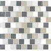"MS International Glacier Peak 1-1/4"" x 1-1/4"" Glass Stone Mesh Mounted Mosaic Tile in Multi"