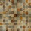 MS International Manhattan Mounted Blend Glass and Metal Mesh Glossy Mosaic in Multi