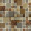 MS International Metropolitan Blend Glass and Metal Mesh Mounted Mosaic Tile in Multi