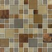 "<strong>MS International</strong> SAMPLE - Metropolitan 12"" x 12"" Blend Glass and Metal Mesh Mounted Mosaic Tile in Multi"