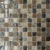 "<strong>MS International</strong> SAMPLE - Pacific Dunes 12"" x 12""  Blend Glass Mesh Mounted Mosaic Tile in Brown"