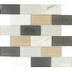 "<strong>MS International</strong> Glacier Peak 4"" x 2"" Glass Stone Mesh Mounted Mosaic Tile in Multi"