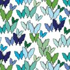 <strong>Avalisa</strong> Animals Butterfly Pattern Stretched Canvas Art