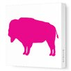Silhouette - Buffalo Stretched Wall Art