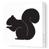 Avalisa Silhouettes Squirrel Stretched Canvas Art