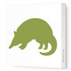 Avalisa Silhouettes Armadillo Stretched Canvas Art